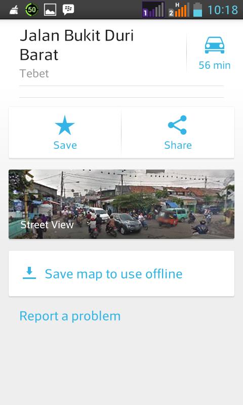 Tampilan Google Street View persis dari lintasan KA (mengarah ke barat). Soto Samrel terlihat di sebelah kanan.