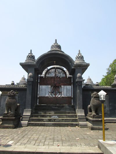 Gate of the replica of the Borobudur Temple